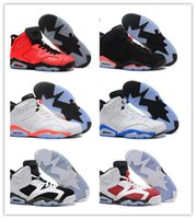 angry white men - 2016 Hot new Air Retro VI men basketball shoes Angry bull Carmine Infrared White Infared Black sport sneaker discount shoes