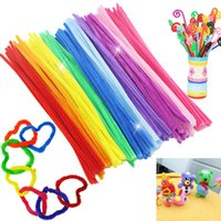 Wholesale Chenille Stems Colorful Sticks DIY Educational Toys Children Babies Kids DIY Materials Plush Shilly Sticks Handmade Art Toys