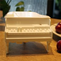 Wholesale Newest Sterile Piano Toothpick Box Piano Toothpicks Holder Box Plastic Toothpick Dispenser With Package