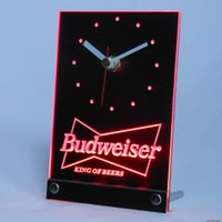 beer bar table - tnc0472 Budweiser Beer Bar D LED Table Desk Clock