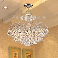 Wholesale E14 Crystal Chandelier Modern Color Bedroom hotel Living Room Ceiling Lights Fixture Crystal Lighting