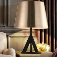 Wholesale Abajur Tom Dixon Base Gold Villas Project Table Lamp Die cast Aluminum Bedside table light home desk Fixture luminare