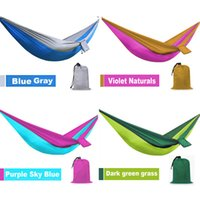 Wholesale 2016 New Arrival Outdoor Camping Traveling People Leisure Parachute Hammock Portable Nylon Parachute Hammock Colors