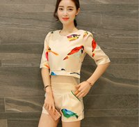 animal fair - The new summer in Europe and America tide two piece sleeve shorts leisure fashion printing small sweet wind set fair maiden wind