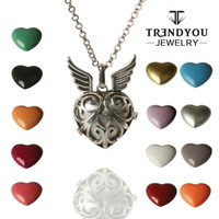 baby toy links - TRENDYOU Angel Folting Locket Pendnant Necklace Baby shower Toys Mexican Ball Pendant Necklace For Pregnancy Women Accessories DTZ16614