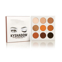 Wholesale 2016 hot new kylie Kyshadow pressed powder eye shadow palette the Bronze Palette Kyshadow Kit Kylie Cosmetic colors