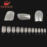 Wholesale of nail tips Free ABS material false nails clear nature nail art tips sizes