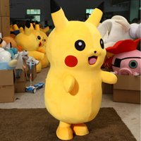 Wholesale Professional Adult Size Pikachu Mascot Costume carnival anime movie character Classic cartoon Adult Character Fancy Dress Cartoon Suit