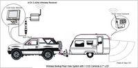 "Cheap 12-24V Wireless Reversing Parking Backup Camera for bus truck caravan car 7"" LCD Rear view Monitor Screen Kit UP to 50m"