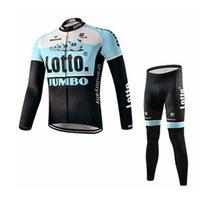bianchi long sleeve - Lotto Jumbo Team Cycling Jerseys Long Sleeve Winter Autumn Bike Wear Bianchi Road Bike Thermal Fleece Bike Clothing Size XL