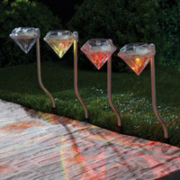 Wholesale YouOKLight W RGB Diamond Solar Led Color Changing Lamps Lawn Garden Path Light Diamond Lights Outdoor Light