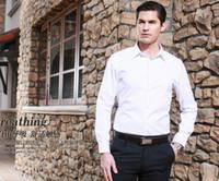 bamboo dress shirts men - Fashion new men formal shirt business shirt customization of high quality pure white shirt hot sale ball classic style
