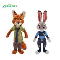 big nick - High Quality Zootopia Movie Zootopia plush toys Nick Wilde and Judy Hopps Fox Rabbit Stuffed Cartoon Dolls Best Gift Cute Plush Toys