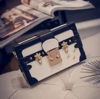 artwork boxes - 2016 new bag Box originality Packet Lock Small box Fashion leisure bag Lady bag Creative shoulder bag Cross Body Hard pack Mini Bag