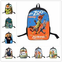 Wholesale 15 Designs Kids Backpack Zootropolis Nick Fox sloth School Bags Satchel Mochila D Cartoon Children School Bags For Boys Girls LA228