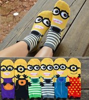 Wholesale Despicable Me Style Cute Little Minions Cotton Socks Women Gig Kids Middle tube socks
