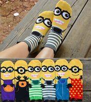 Wholesale Despicable Me Style Cute Little Minions Cotton Socks Women Gig Kids Middle tube socks