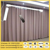 Wholesale AC100 V electric curtain blinds size customed acceptable from m m open from middle or two side durable curtain track