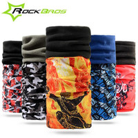 Wholesale ROCKBROS Winter Thermal Fleece Cycling Magic Scarf Masks Cap Windproof Road Bicycle Bike Cycling Mask Headband Face Cover H6038