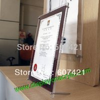 advertising prints posters - Pack units Counter Top Plexiglass Acrylic Poster Picture Frames Advertising Boards Prints for certificate diploma and poster
