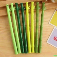 bamboo stationary - 20pcs Lovely Bamboo Shape Gel Pens Stationary Home Desktop Decorations Office School Writing Pens Papelaria