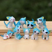 Wholesale Creative cheese cat doll mini Japan small place Christmas birthday present anime figure cheese cat toy doll