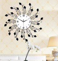 Wholesale 1pcs Fashion creative wrought iron set auger wall clock The sitting room quiet bracket clock Modern rural clock