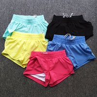 Wholesale Women Sports Shorts GYM Cycling Workout Running Fitness Shorts women Yoga shorts Double anti emptied beach shorts colors