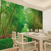 bamboo forest wallpaper - Modern large scale non woven bamboo forest green plant Nature Wallpaper applicable bedroom living room TV backdrop restaurant