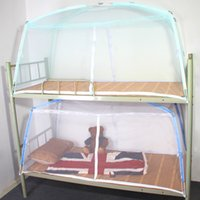 Wholesale 2picec Student mosquito net bunk beds mosquito net mosquito net twin bed mosquito net Mini house single bed bunk beds