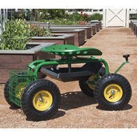 Wholesale Garden Cart Rolling Work Seat With Tool Tray Heavy Duty Gardening Planting New