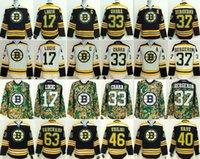 Wholesale Boston Cheap Hockey Jerseys Bruins jerseys BERGERON LUCIC CHARA MARCHAND KREJCI RASK black white drop freeshipping