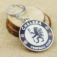 Wholesale Soccer Fans Fashion Keychain Chelsea Football Club LOGO Key chain Fine Jewelry Keyrings for souvenirs