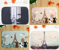 anti slip mat for bathroom - 40 cm Eiffel Tower Series Balloon Bath Mats Anti Slip Rugs Coral Fleece Carpet For Bathroom Bedroom Doormat Online