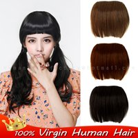 Wholesale Promotion Custom colors gram real huma hair Thick bangs front bang hair fringe Classic Clip in fringe natural hair extension
