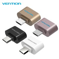 Wholesale VENTION Micro USB To USB OTG Function Adapter Converter for Samsung Galaxy Android Smart Phone for Huawei Tablet Pc
