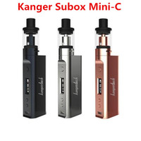 Wholesale Authentic Kanger Subox Mini C starter kit E cigarette kit Kangertech Kbox Mini c with Protank Top Fill Atomizer SSOCC ohm coil Free DHL