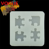 Wholesale 1pcs DIY Funny children toys Epoxy Silicone Pendant Mold Puzzle charm Mould handmade Make Tool Jewelry Accessories