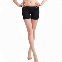 Cheap Wholesale-Women's Ladies Dancing Sport Short Tights Spandex Elastic Pants Safety Underwear Free Shipping