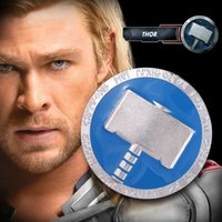 axe and hatchet - The Avengers The Thor Blue Axe Hatchet European and America popular Fashion Emblem Badge Brooches Pins For Men Party