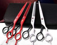 Wholesale Hair Scissors SMITH CHU Cutting Scissors and Thinning Scissors Professional Barbers Scissors Kits inch with Case