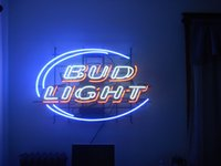 Wholesale Bud Light Real Glass Neon Light Sign Home Beer Bar Pub Recreation Room Game Room Windows Garage Wall Sign