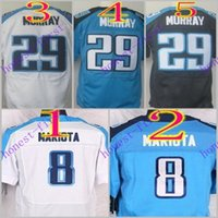Wholesale 2016 Elite Football Stitched Marcus Mariota DeMarco Murray Light Blue White Dark Blue Jerseys Mix Order