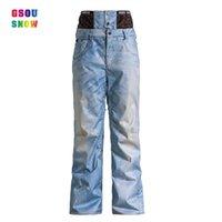 Wholesale GSOU SNOW new derect selling jeans ski pants men male windproof