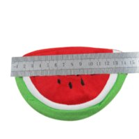 bag clock - Watermelon Plush Key Coin Wallet Purse Cosmetic Makeup Pouch Phone Pencil Pen Bag Cheap pen holder with clock