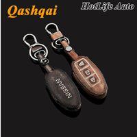 auto nissan juke - Leather Car Keychain for Nissan Murano Qashqai Juke Tiida Graffiti Smart Car Key Case Cover Chain Ring Bag Auto Accessories