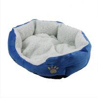 Wholesale Dog Supplies Soft Pet Dog Nest Puppy Cat Bed Fleece Warm House Kennel Plush Mat Colors Pet Products