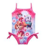 Wholesale PAW Patro Swimsuit Swim wear paw Patro bathing suits kids One Pieces cartoon swim wear