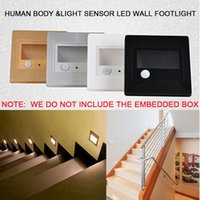 bedroom toddler - 0 W LED Wall Plinth Recessed Human Body Light Sensor Stairs Step Footlight Lamps V Toddlers Bedroom Hallway Night Lights