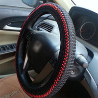 Wholesale Ice Silk DIY Car Steering Wheel Cover Car Styling Summer Helper Black Beige Grey Color Hot Sale